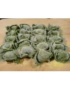 Grüne Tortelli mit Bergkäsefüllung - Tortelloni di Malga con pasta agli Spinaci